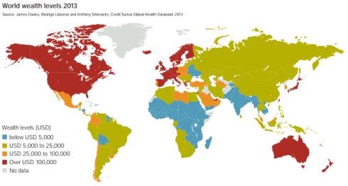 World Wealth Levels 2013