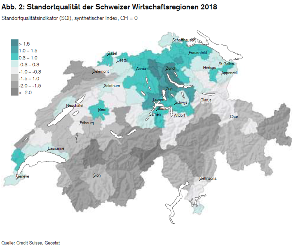 Regionenqualität 2018: Unterschiede prägen das Bild (2)
